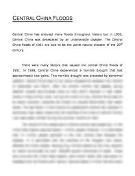 the central floods of essay aufsatz the central floods of 1931 in 1928 central experienced a horrible drought