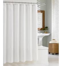 White Cotton Shower Curtain Waffle