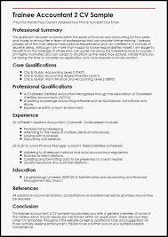 Junior Accountant Resume Sample Trainee 2 Cv Efficient Thus