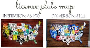 on license plate map wall art with remodelaholic license plate map wall art
