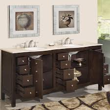 Dark Cabinet Bathroom 72 Perfecta Pa 5126 Bathroom Vanity Double Sink Cabinet Dark