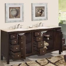 Dark Bathroom Cabinets 72 Perfecta Pa 5126 Bathroom Vanity Double Sink Cabinet Dark