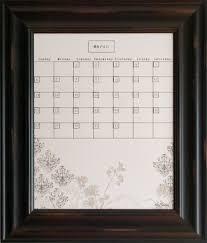 Framed Dry Erase Board Dry Erase Calendars Calendar