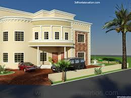 3D Front Elevationcom: Dubai Arabian HOuse 3D Front Elevation .