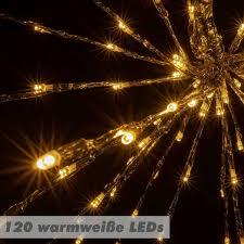 Weihnachtsstern Beleuchtet Meteorstern Schneeflocke 120 Led