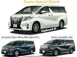 Toyota Alphard Hybrid and Vellfire Hybrid 30 Series (2015 to current)
