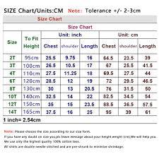Dc Youth Size Chart Children T Shirt Size Chart Arts Arts