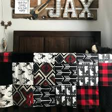 red black bedding boy crib bedding buck deer black arrows red black buffalo check red black