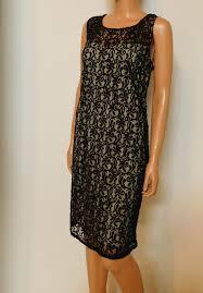 Pisarro Nights Black New Bead Sequin Embellished Short Cocktail Dress Size 14 L
