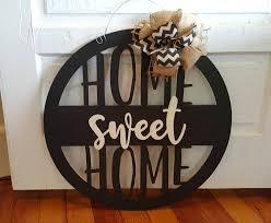 home sweet home door hanger wreath housewarming gift wall hanging dorm room wedding gift birthday gift