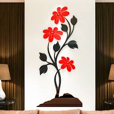 get ations stone flower 3d stereo acrylic crystal wall stickers paper meal ideas living room bedroom tv background