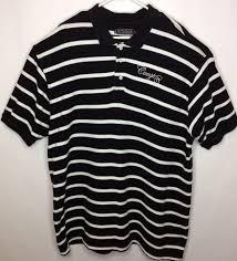 Coogi Mens Black White Stripe Polo Shirt Sz Xxxl