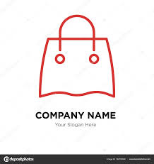 Bag Company Logo Design Reusable Shopping Bag Company Logo Design Template Stock
