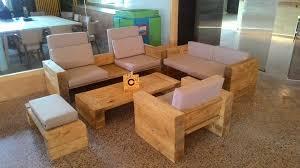 diy living room furniture.  Room DIY Pallet Living Room Sofa Set Upcycled Wooden Pallet Block Style Sitting  Set Inside Diy Furniture