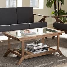 Walnut Furniture Living Room Baxton Studio Cayla Mid Century Modern Walnut Brown Wood Living