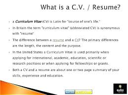 What Cv Means In Resume Professional Resume Templates