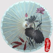 Paper Lotus Flower Us 21 79 8 Off Pure White Wedding Hanging Oil Paper Umbrella Pink Lotus Flower Blossom Paper Parasol Autumn Grey Leaf With Fish Paper Umbrella In