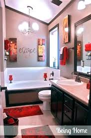 red bathroom rug black rugs bath at target mats sets
