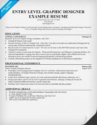 Gallery Of Entry Level Graphic Designer Resume Student Resume S