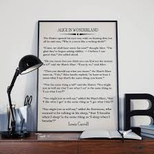 Alice In Wonderland Quote Gorgeous Alice In Wonderland Book Wall Art Lewis Carroll Quote Wonderland