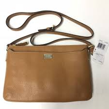 Coach Madison Burnt Camel Leather Swingpack Crossbody Purse 49992
