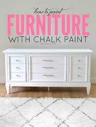 painting wood furniture whiteLiveLoveDIY How To Paint Furniture with Chalk Paint and how to