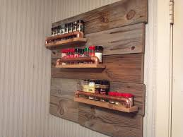 Rustic Spice Rack with old wood and old copper pipe!