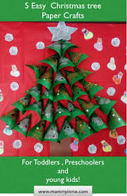 Christmas Tree In Chart Paper Kids Friendly Christmas Tree Crafts And Story Parenting