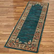 teal rug runner border rug runner dark teal x teal green runner rug