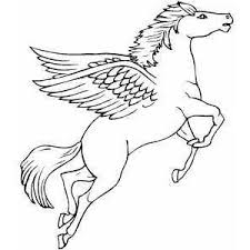 Small Picture Flying Pegasus Coloring Page Polyvore coloring pages