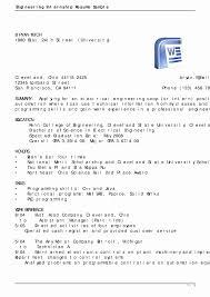 Sample Resume Format For Internship Inspirational Resume Internship