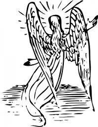 天使の後ろからクリップ アート ベクター クリップ アート 無料