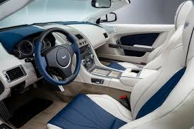 Another stunner by Aston Martin's Q team, this custom Volante interior  sports a nautical theme (more superyacht than dinghy.) Aston Martin notes  The ...