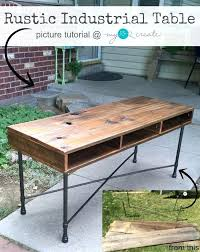 diy rustic industrial coffee table rustic industrial coffee table rustic industrial coffee