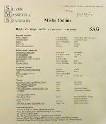 Misha Collins wallpaper called Misha Collins' Resume