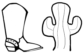 Amazing Of Top Cowboy Boots Coloring Pages In 6863 10 And Boot Page