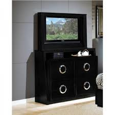 Hollywood Bedroom   Bed, TV Dresser U0026 TV Mirror   Black   Queen (520B64)