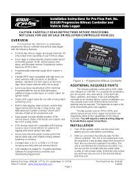 wilson manifolds 810100 progressive nitrous controller and vehicle wilson manifolds 810100 progressive nitrous controller and vehicle data logger user manual 18 pages