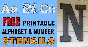 letter stencils free printable number