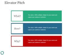 Elevator Pitch Template 2 Ppt Powerpoint Presentation Design