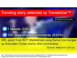 Nrl Grand Final 2017 Macklemore Song Same Love Surges Up