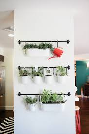 Indoor herbs  Create a hanging garden with metal tins, hooks, and towel  bars! put between