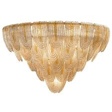 murano glass art deco style chandelier for