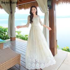Buy Maxi Dress Beige And Get Free Shipping On Aliexpress Com