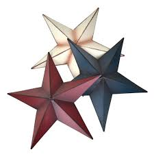 rustic metal star wall decor assorted