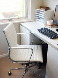 image for white leather office chair ikea