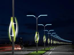 could passing cars power wind turbines on highway lights cool concept lighting designlighting
