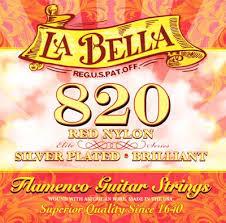 La Bella String Tension Chart La Bella 820 Elite Flamenco Guitar Strings Red Trebles Mt Full Set