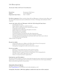 event coordinator job description sample - Job Description Of Event Planner