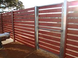 horizontal wood and metal fence. Plain And Interior View  Semi Privacy Square Steel Frame Gate Intended Horizontal Wood And Metal Fence A